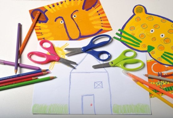 Saugus būdas mokyti vaikus meninio karpymo