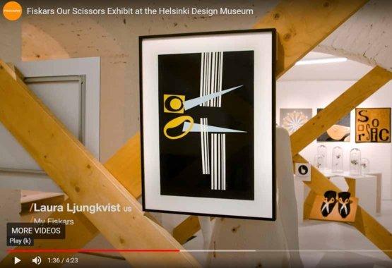 Mūsų žirklių paroda Helsinkio dizaino muziejuje VIDEO