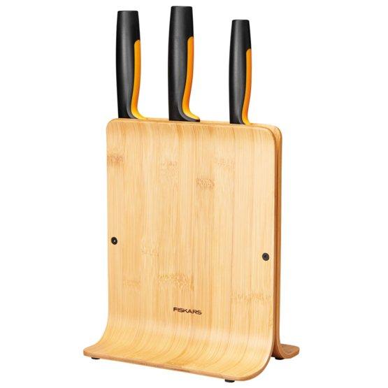 Functional Form bambukinis peilių dėklas 3 peiliams